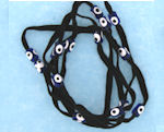 Evil Eye 11465 bracelet Black with dark blue eyes