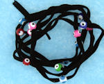 Evil Eye 11465 bracelet BLACK with mixed eyes