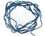 Evil Eye 11465 bracelet Denim with blue eyes