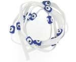 Evil Eye 11465 bracelet White with blue eyes