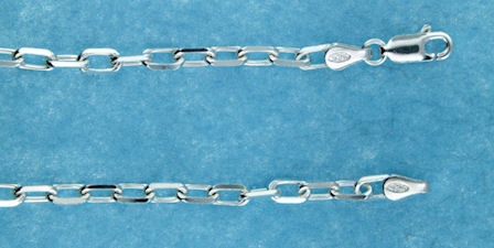 sterling silver 4mm marina chain necklace 2MCH023