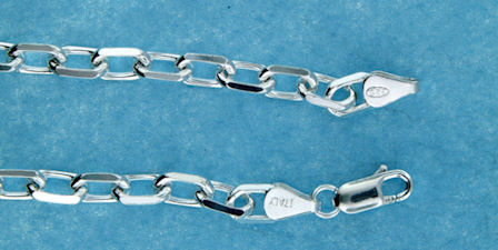 sterling silver 5mm marina chain necklace 2MCH024