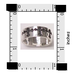 Sterling Silver cross band ring 41AT179