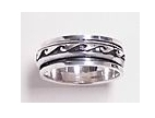 sterling silver spinner rings 45AT357