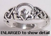 45AT413 sterling silver claddagh ring