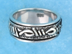 sterling silver Worry rings 45AT515