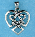 Sterling silver Celtic pendant style 767-116