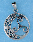 Sterling silver Celtic pendant style 767-51