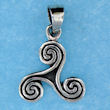 Sterling silver Celtic pendant style 767-62