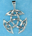 Sterling silver Celtic pendant style 76764