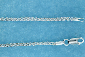 sterling silver 2.5mm spiga chain necklace 7AH123