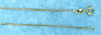 sterling silver 1mm box chain 7AH224