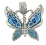 sterling silver butterfly pendant 8AP376ltb