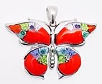 sterling silver butterfly pendant 8mp309d3