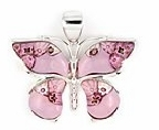 sterling silver butterfly pendant 8MP309D6