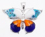 sterling silver butterfly pendant 8mp309d9