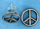 sterling silver peace sign earrings 92AEA354
