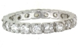 sterling silver eternity band A-100-96