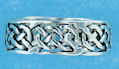 Sterling silver Celtic ring style A135