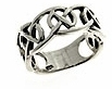 Sterling silver Celtic ring style A311