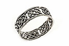 Sterling silver Celtic ring style A359