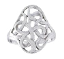 Sterling silver Celtic ring style A373