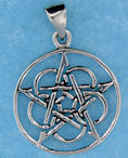 Sterling silver Celtic pendant style A5329