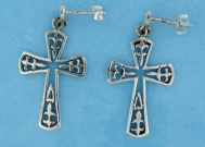 sterling silver cross earrings style A607-26