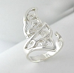 Sterling silver Celtic ring style A70615