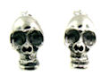sterling silver skull earrings A706-2521