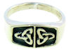 sterling silver celtic design ring A767-164