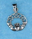 Sterling silver Claddagh pendant style A767-74