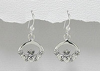 sterling silver wire Claddagh earring style A767-78