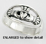 A767-82 sterling silver claddagh ring