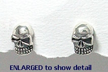 model A768-076 skull earrings enlarged view