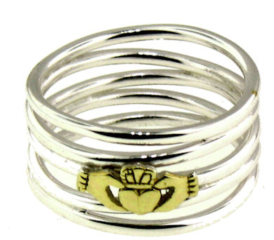 A986-700 sterling silver claddagh ring