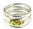 sterling silver claddagh rings A986-700