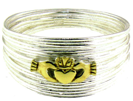 A986-732 sterling silver claddagh ring