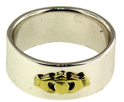 A986-733 sterling silver claddagh ring