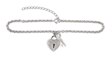 sterling silver anklet AAB029