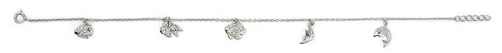 sterling silver anklet AAB034