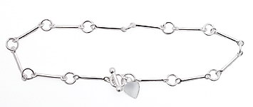 sterling silver anklet AAB111