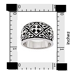 Sterling Silver cross band ring AAR006