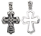 sterling silver cross pendant ABC1006
