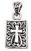 sterling silver cross pendant ABC1009