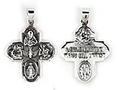 sterling silver religious pendant ABC1026