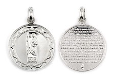sterling silver religious pendant ABC1028