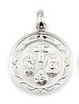 sterling silver religious medals #ABC1029