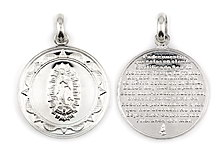 sterling silver religious pendant ABC1030