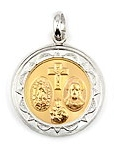 sterling silver religious medals #ABC1033